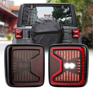 USA Version LED Tail Lamp for Jeep Wrangler JL 18-19 Right Left LED Tail Light Reverse Brake Turn Lamp