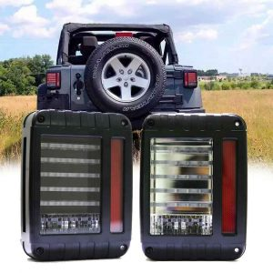 US/EU version for jeep wrangler jk tail lights clear rear lamp smoke/clear lens