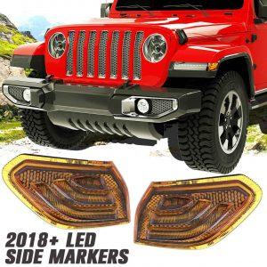 Yellow/smoke lens led side marker for Jeep JL for wrangler jl side marker light
