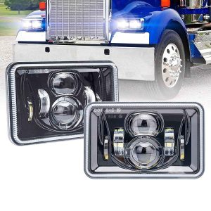 truck light 4x6 square led headlight high/low beam projector led headlight for kenworth truck