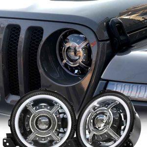 wrangler jl 9 inch led headlight for jeep wrangler 2020 2018 jl headlights